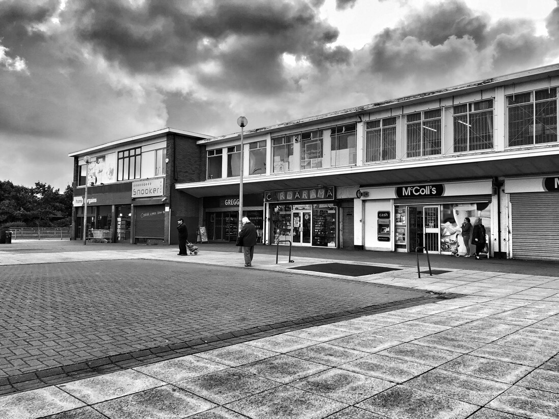 The shops at the Marion Square in Netherton, Merseyside