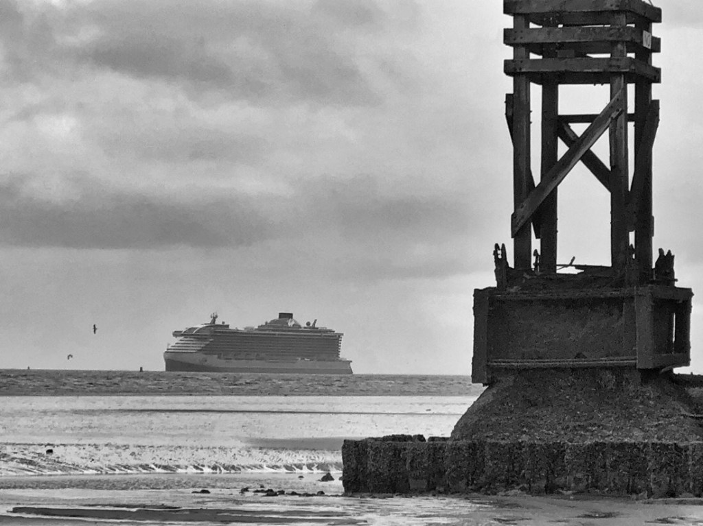 Virgin Voyages cruise ship the Scarlet Lady arrives at the River Mersey