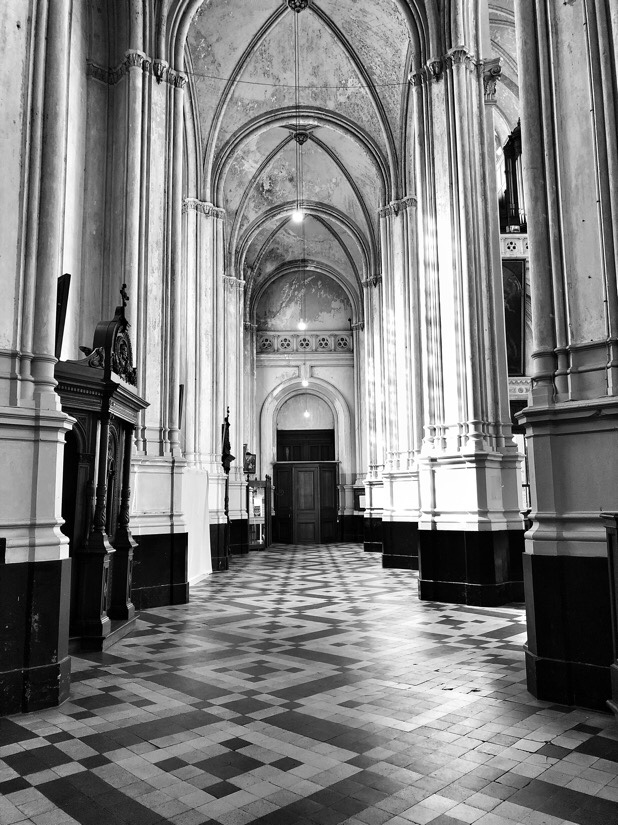 Sainte-Catherine Church in the Place Sainte-Catherine in Brussels, Belgium
