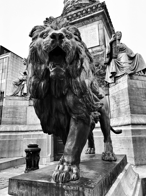 Monuments and statues across Brussels, Belgium
