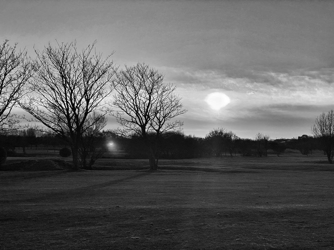 A quiet , peaceful walk across Bootle golf course in the minutes before sunset