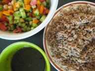 Wheat Berry Salad Components