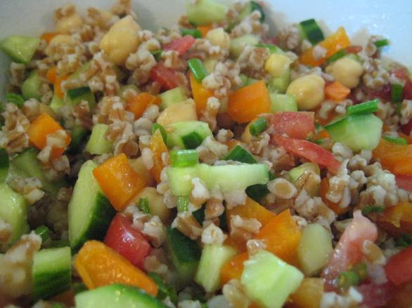 Wheat Berry Chickpea Salad    Small World Supper Club