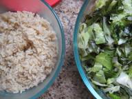 Brown Rice and Kale and Cabbage