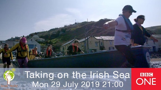 Small World TV Productions Cardiff Taking on the Irish Sea rowing sailing