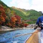 【京都】保津川下りに行って来ました。紅葉が絶景!スリル満載!