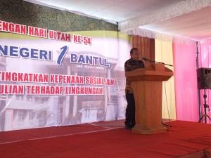 Sambutan Sekda Kabupaten Bantul dalam peringatan Ulang Tahun SMA N 1 Bantul