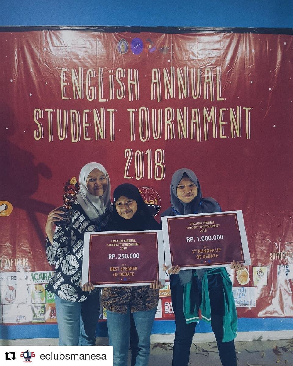 2nd winner and best speaker of debate competition