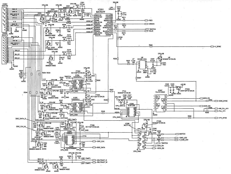 ЖКИ монитор Samsung SyncMaster 800 TFT устройство схемы