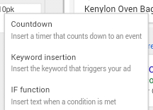 AdWords For Authors Blog - TwitticusMktg - Countdown Function