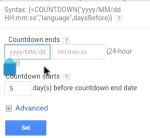 AdWords For Authors - TwitticusMktg - Countdown Function