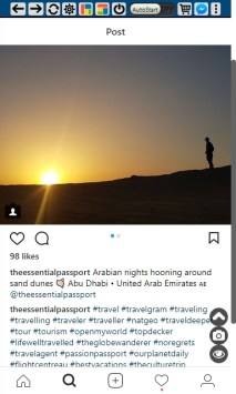 Instagram screenshot of popular post - Theessentialpassport profile | SmarketryBlog.com