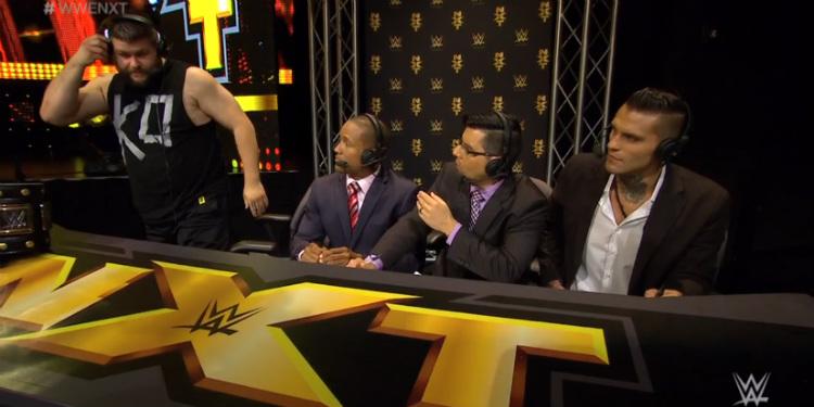 NXT:n selostajat eivät ole tulla toimeen Kevin Owensin kanssa.