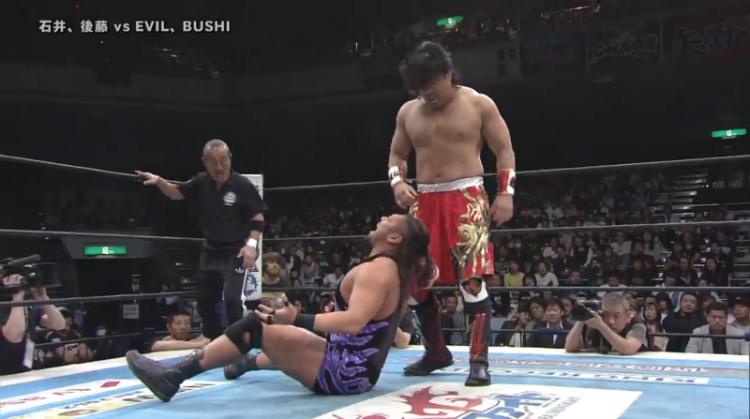 njpw invasion attack goto ishii vs evil bushi