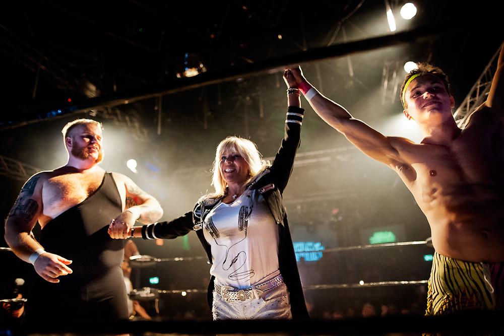 Harley Rage, Samantha Fox ja Timmy Force. Kuva: Fredrik Schoug.