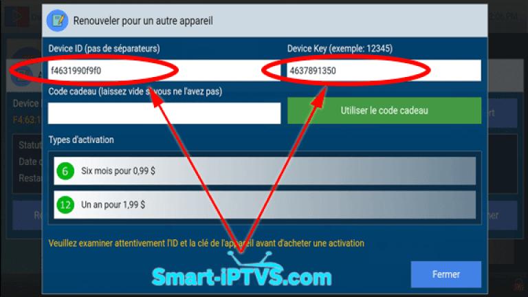 comment payer pour l'application Duplex iPTV3 FR