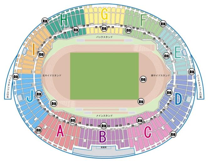 ヤンマースタジアム長居の座席表とキャパは?