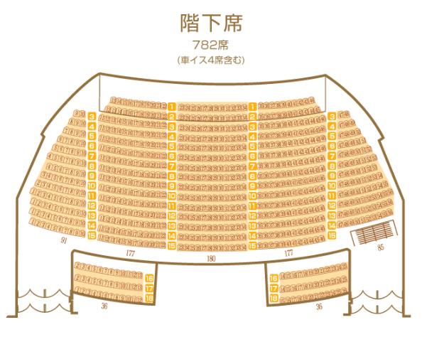 岡山市民会館の座席表とキャパは?