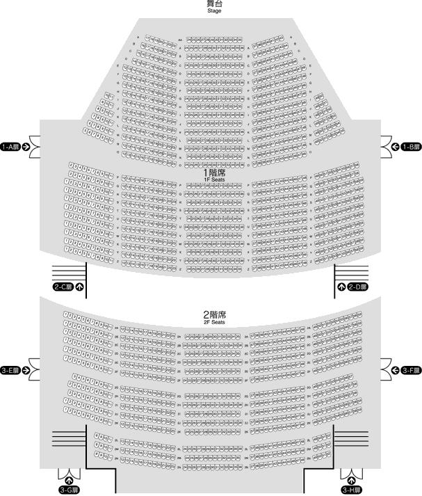長崎ブリックホールの座席表とキャパは?