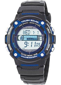 Casio solar-powered tide and moon graph watch