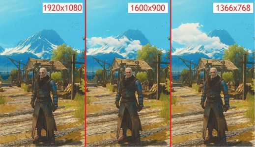 Difference between low- and high-resolution images