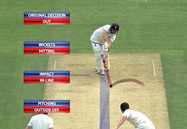 Hawk Eye technology being used in cricket