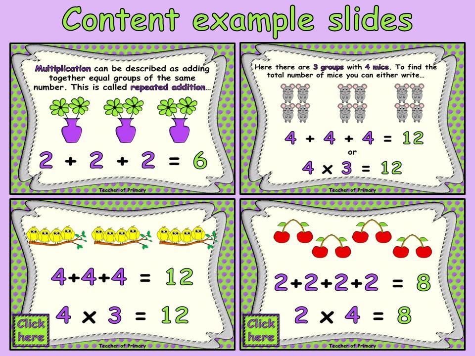 Beginning Multiplication Worksheets For 2nd Grade