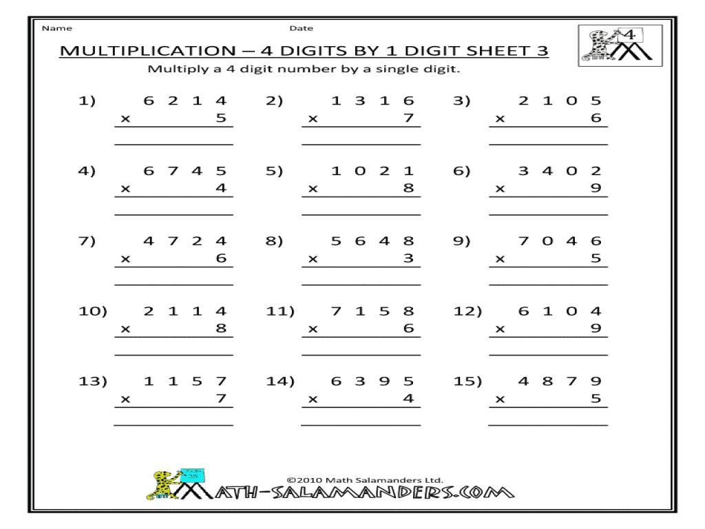 Free Printable Multiplication Worksheets Color By Number