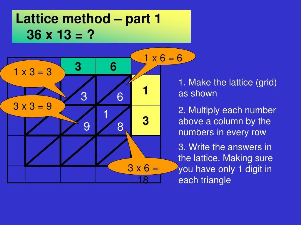 Lattice Multiplication Worksheets 3 By 3 Pdf