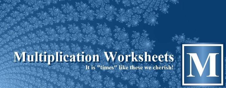 Multiplication Lattice Worksheet