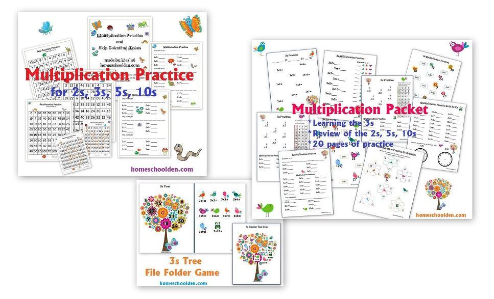 Multiplication Learning Worksheets 1