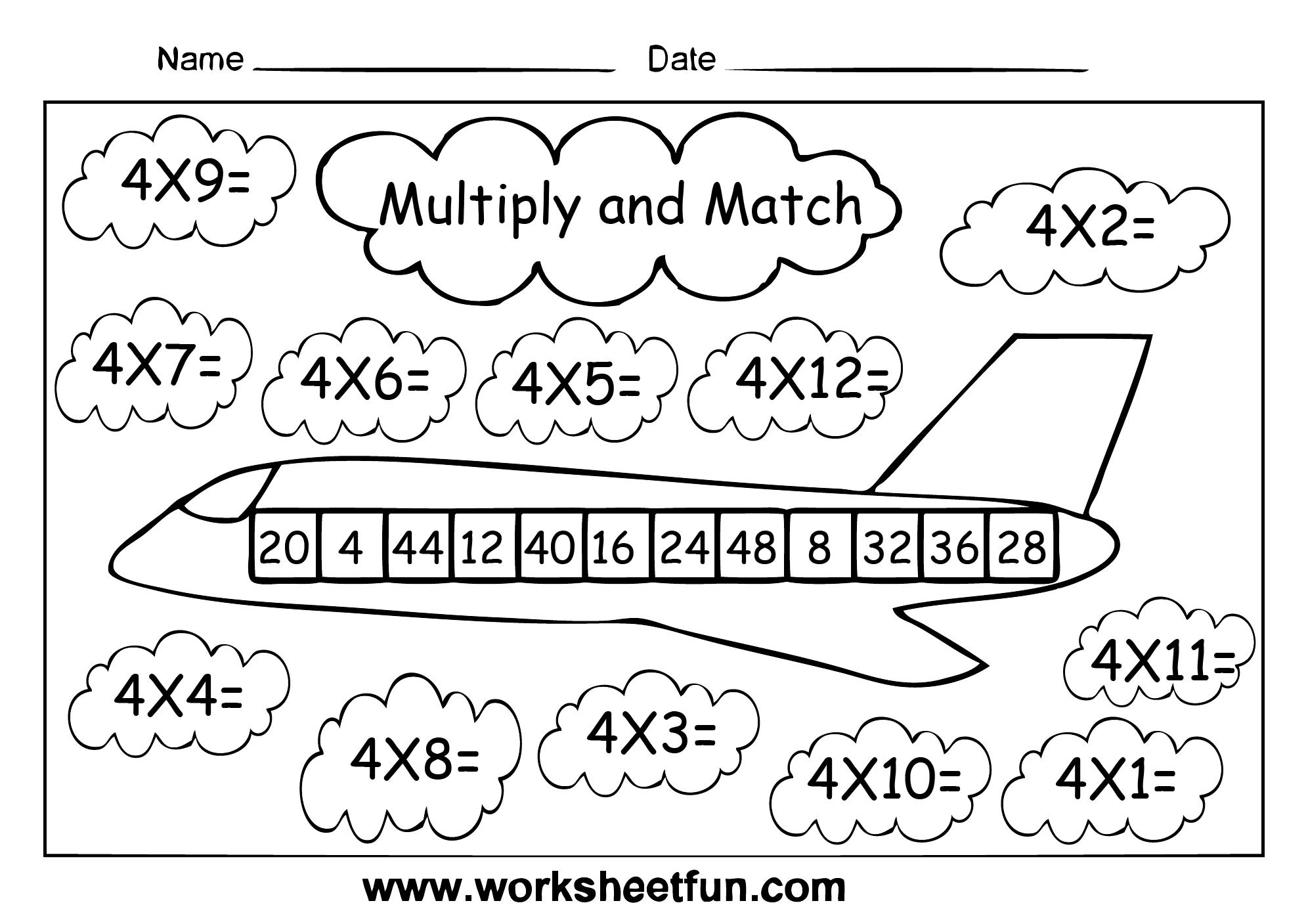 Multiplication Worksheets 4s