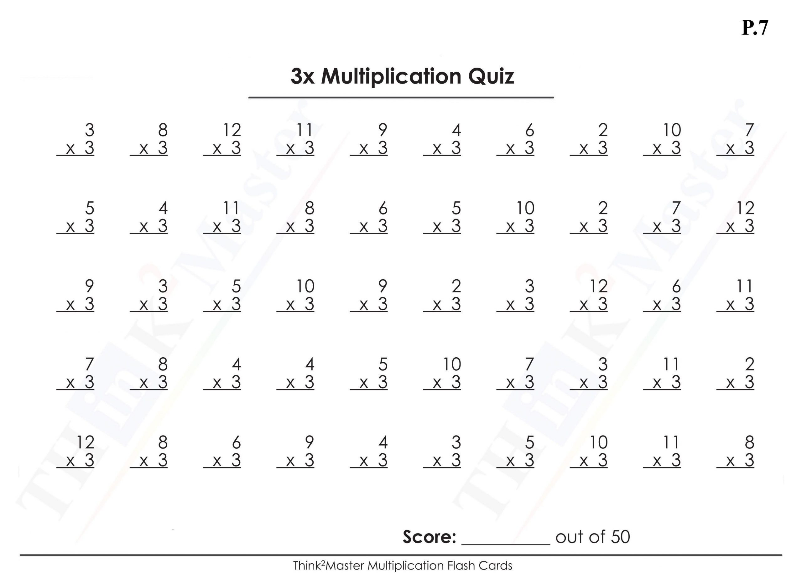Multiplication Worksheets All Facts 1