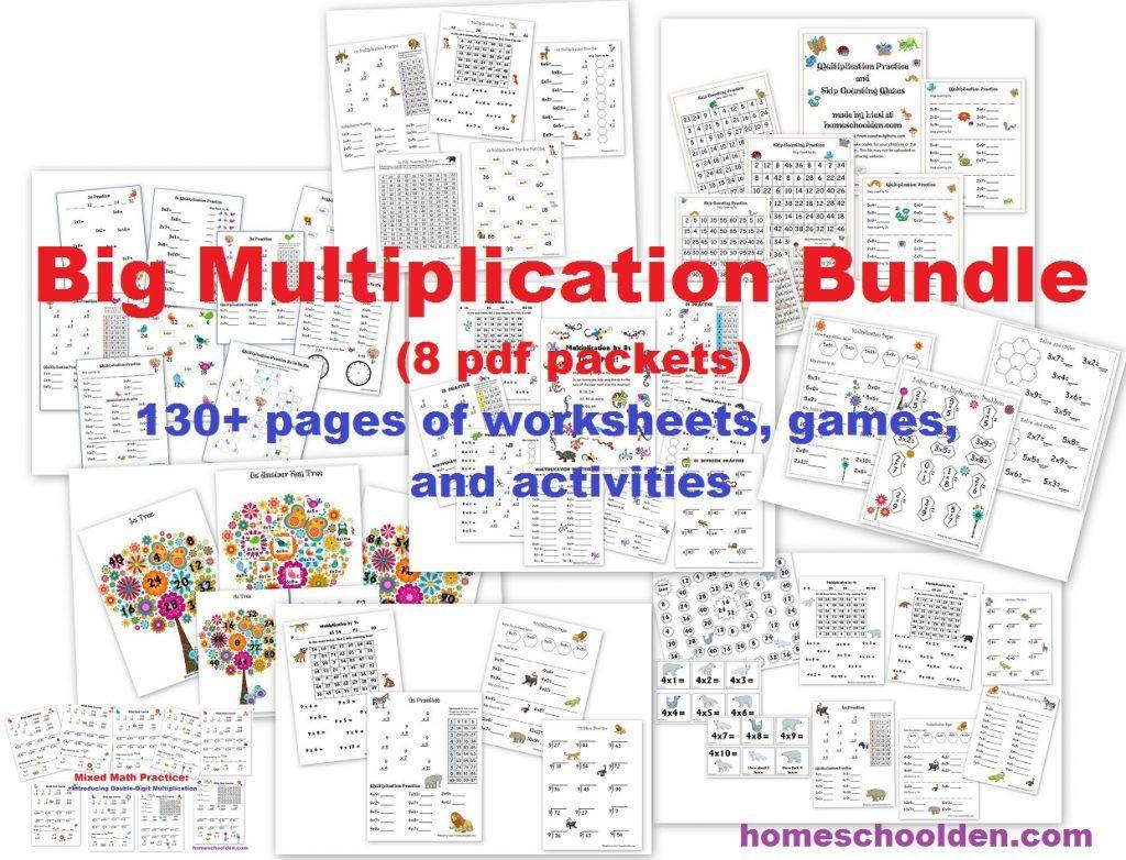 Multiplication Worksheets Big Numbers 5