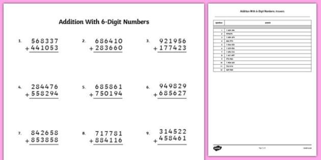 Multiplication Worksheets Big Numbers 8