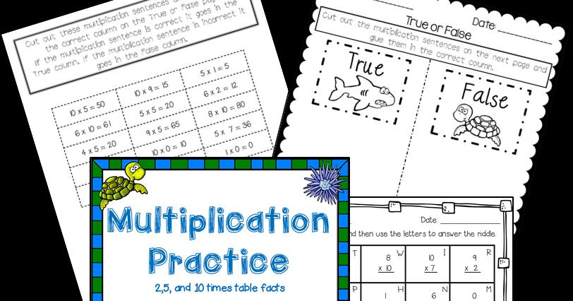 Multiplication Worksheets For Elementary Students