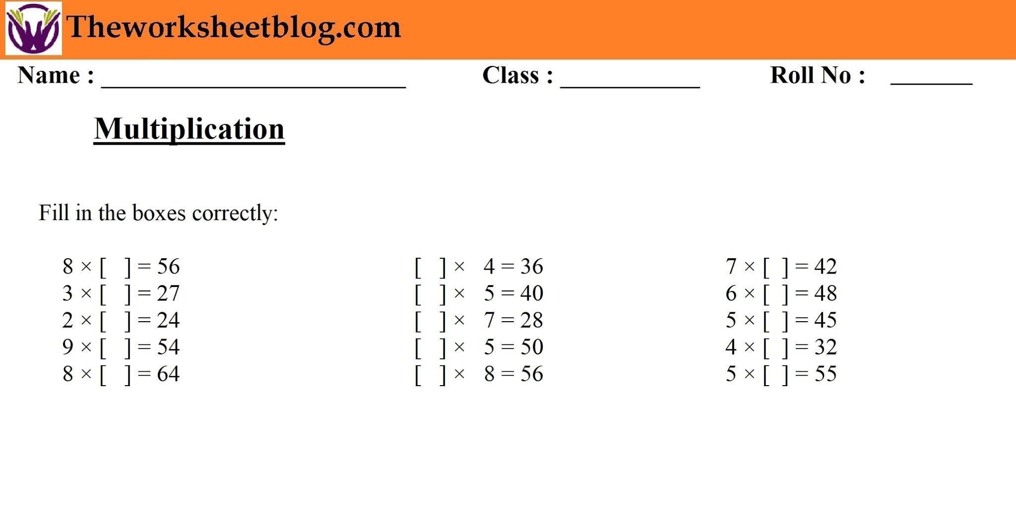Multiplication Worksheets Grade 10