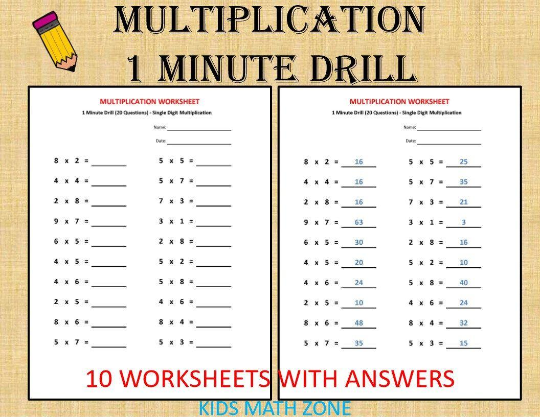Multiplication Worksheets Grade 4 Coloring