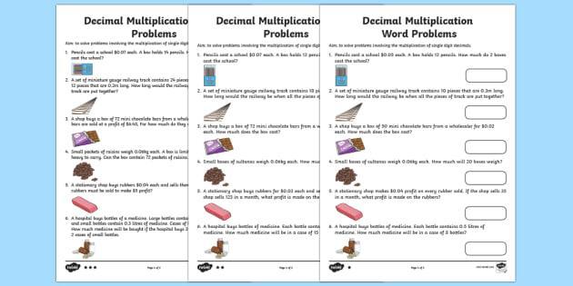 Multiplying Decimals Worksheets 6th Grade Pdf