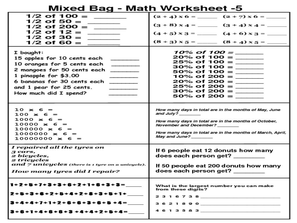 Simple Multiplication Worksheets For 4th Grade