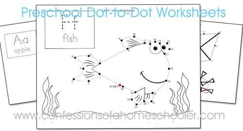 Free Printable Dot To Dot Worksheets For Kindergarten Pdf