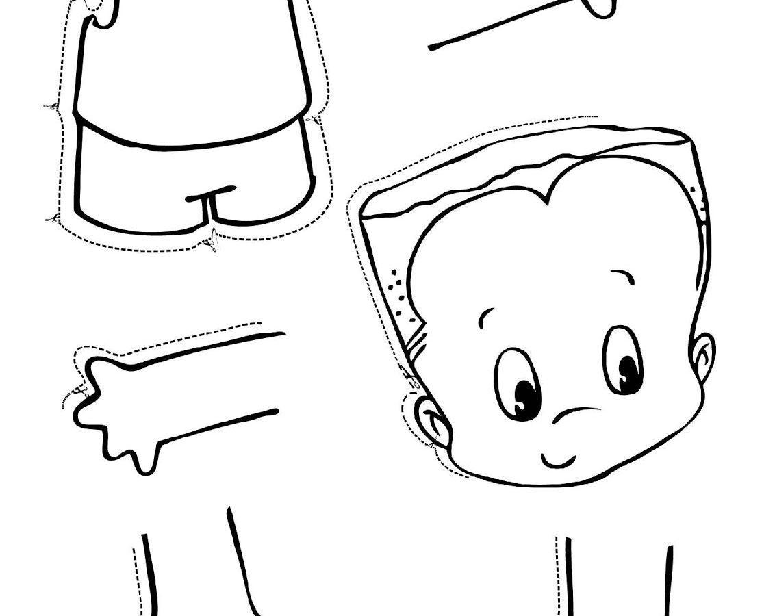 Identify Body Parts Preschool Worksheets