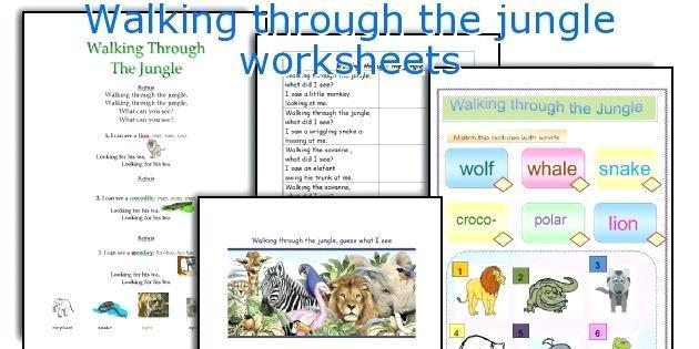 Jungle Themed Worksheets For Preschool