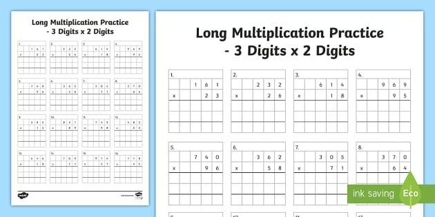 Multiplication Worksheets Quiz 1