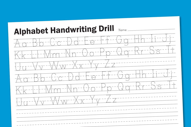 Preschool Blank Handwriting Worksheets