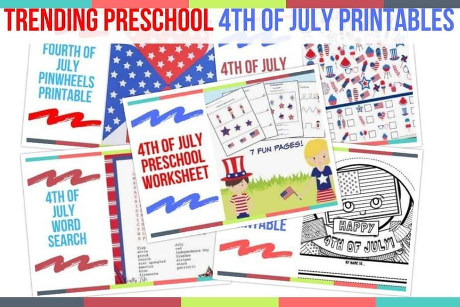 Preschool Fourth Of July Worksheets 6