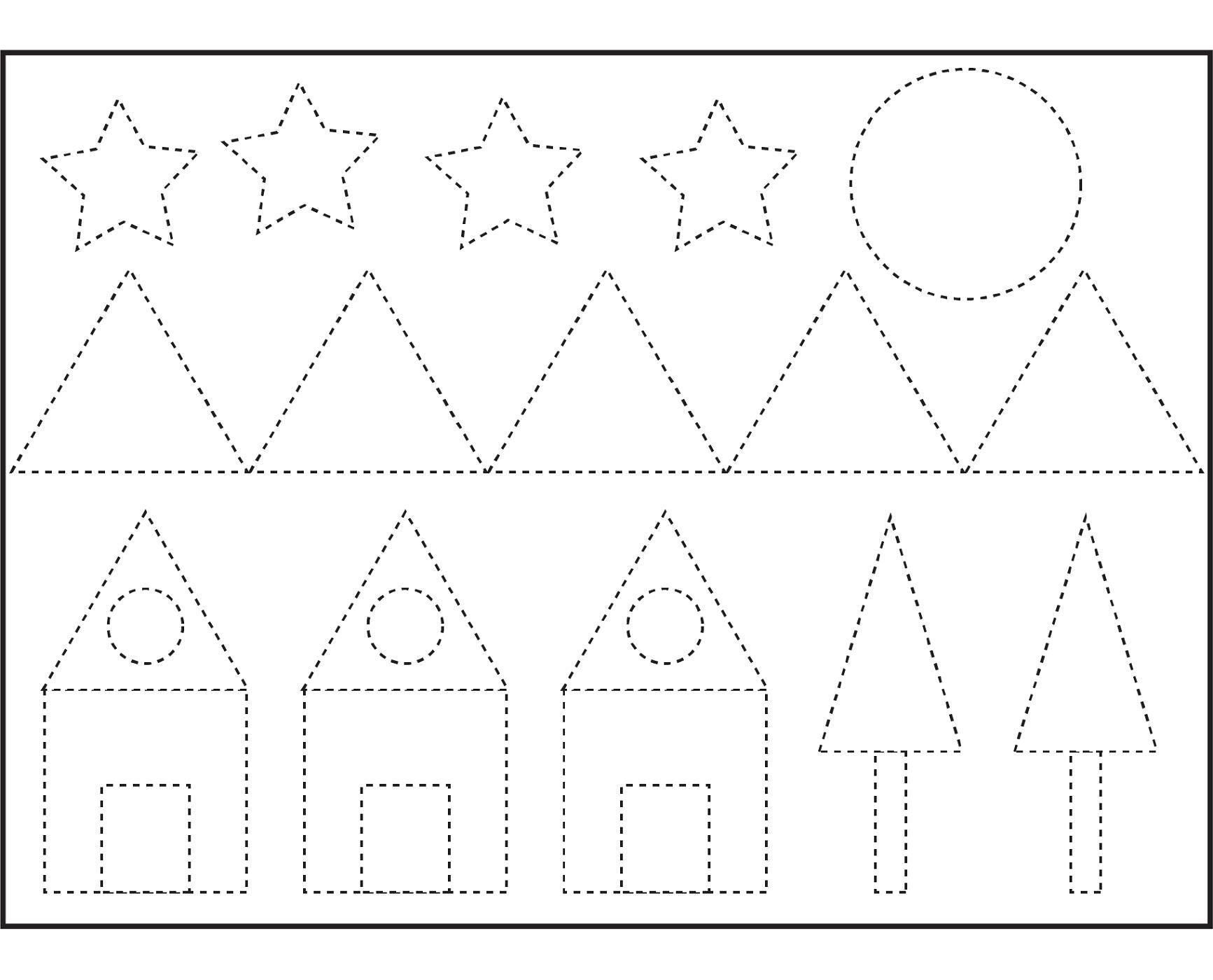 Preschool Worksheet Shapes