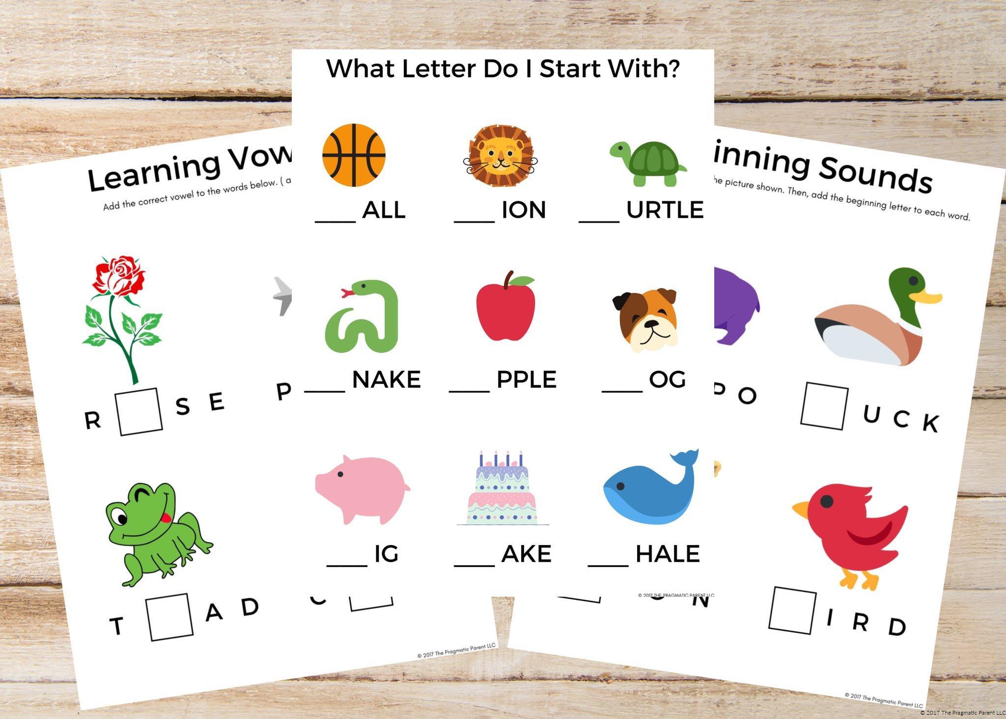 Preschool Worksheets Bundle 7