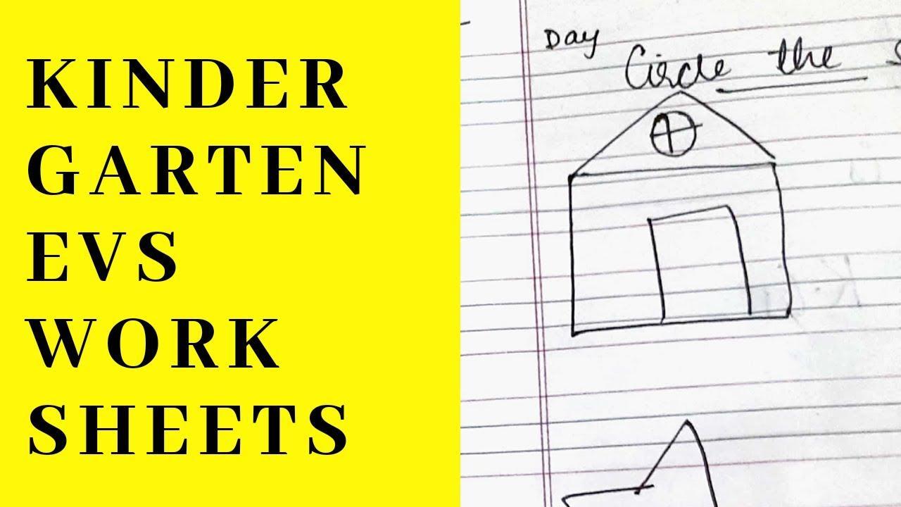 Preschool Worksheets Evs 8