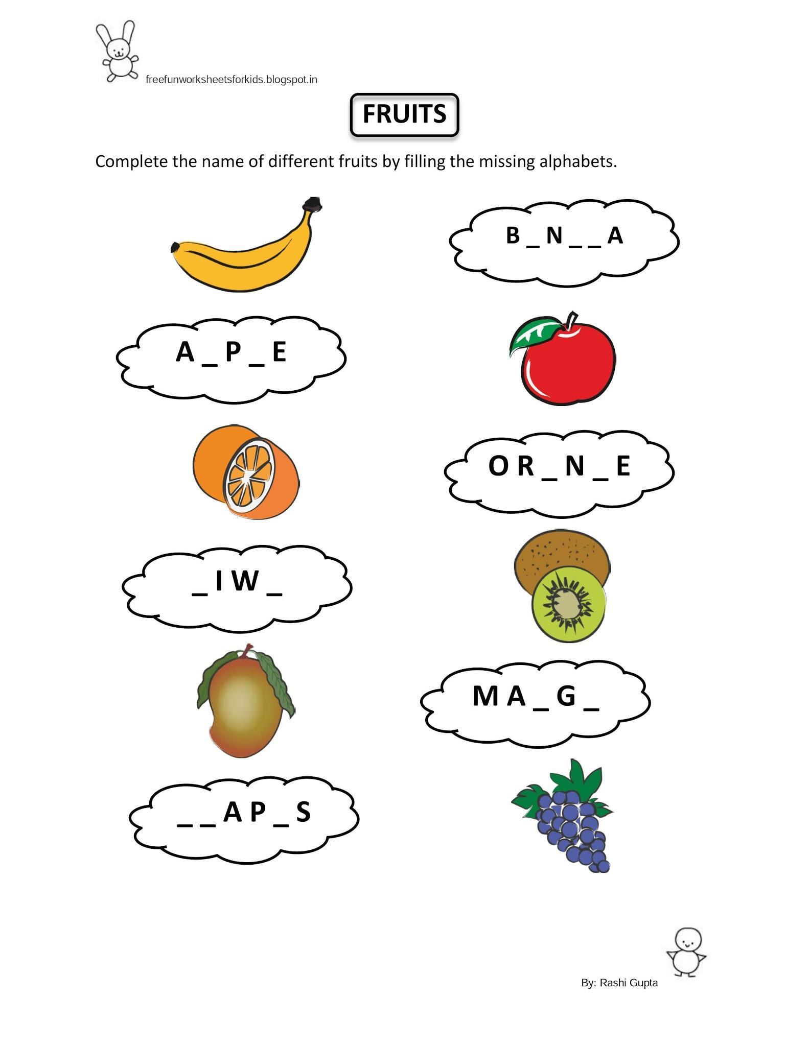Preschool Worksheets Evs 9